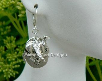 Greyhound Silver Always Angel Earrings, Greyhound Angel Earrings, Greyhound Wing Earrings, Greyhound Jewelry, Greyhound Earrings, Greyhound