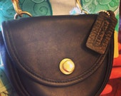 1990 vintage coach purse black springlock