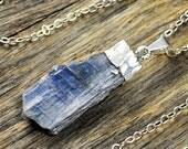 Valentine SALE - Kyanite Necklace, Kyanite Pendant, Kyanite Silver Necklace, Kyanite Stone Necklace, Kyanite Stone Pendant, Kyanite Sterl...