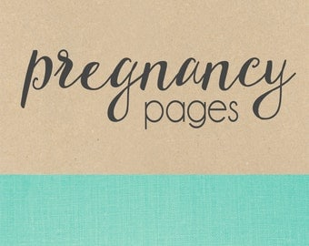 PREGNANCY PAGES // baby book, baby gift, pregnancy journal, add on page, baby keepsake
