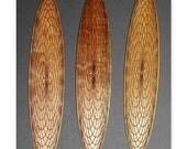 Engraved Spirograph Wooden Bookmark