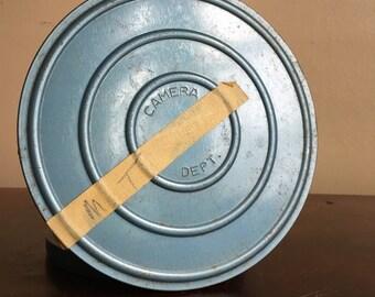 Vintage Blue Film Canister.