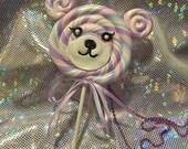 3-Way Bear Sweet Lollipop Necklace / Brooch / Hair clip