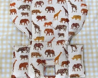 high chair cushion, pad, Evenflo high chair cover, highchair replacement pad, cushion, baby accessory, baby and child care, feeding, safari