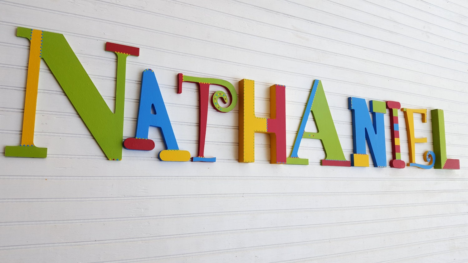 Kids name letters mixed font letters fun wall letters for Kids name letters
