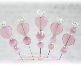 Sweet Heart Stick Pins for Scrapbooking,Cardmaking or Mini Albums