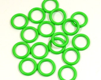 12mm Bright Green Rubber O-Rings