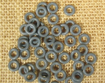 25% OFF 7.25mm Charcoal Rubber O-Rings for 5mm Leather