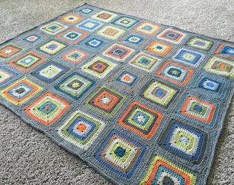 Heirloom Boy Baby Blanket, Toddler Blanket, Crochet Blanket, Handmade baby blanket