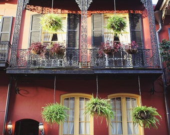 New Orleans Photography, New Orleans Art, French Quarter Picture, Architecture, Wrought Iron Balcony, Louisiana Art, Home Decor, Wall Art