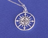 Compass Necklace, Sterling Silver or Gold  Necklaces, Graduation gift, Best friend gift, Compas charm
