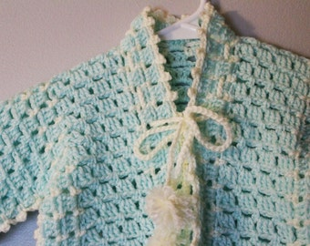 Baby Sweater Mint Color (0 to 8 Months)