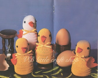 Chicks egg cosies crochet pattern. Instant PDF download!