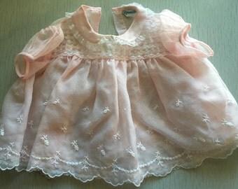 Pink sheer Nannette dress 3-6m