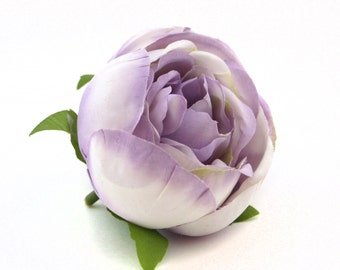 Spring Rose in Two-Tone Lavender -  Artificial Flower, Silk Flower Heads