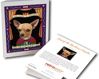"""Chihuahua Cards """"Saint of Napoleonic Complex"""" 6 Small Greeting Cards by Krista Brooks"""