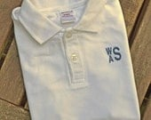 Monogrammed Polo for Boys - White