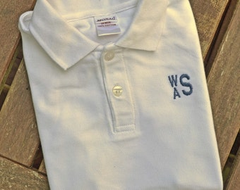 Monogrammed Polo for Boys - White