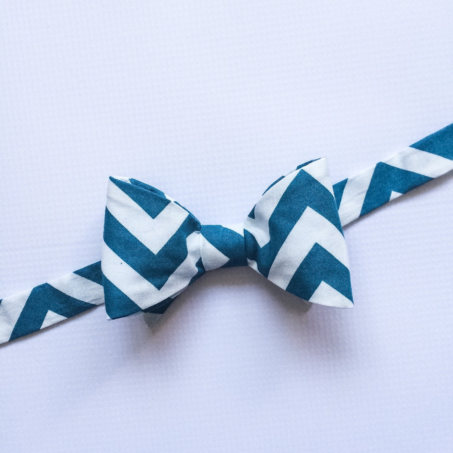 mens neckwear teal bow tie teal bowtie teal chevron bow