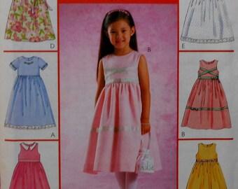 Girls Dress Sewing Pattern UNCUT McCalls M4354 Sizes 4-6