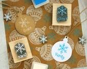 Personalised Children's Christmas Snowflake Rubber Stamp - Personalized Custom Stocking Stuffer Filler - Christmas Gift - Gift for Girls
