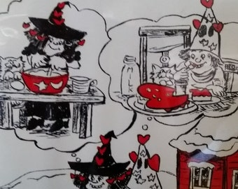 Cutest Little Witches Valentines Vintage Craft Book w Recipes--HARD Find--40-70% off Patterns n Books SALE