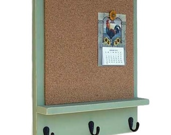 Message center mail organizer cork board white board for Cork board with hooks