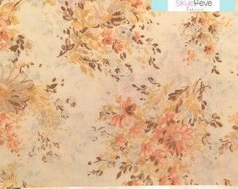 Vintage Tan and Peach Bouquet Pillowcase