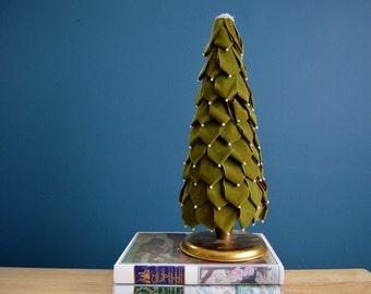 Vintage Handmade Velvet Christmas Tree