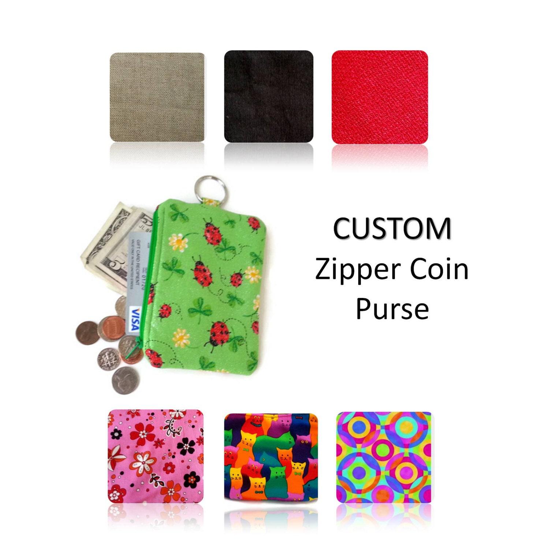 Coin Purse / Custom Change Purse / Cotton Coin Pouch / Zipper