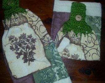 Crochet top kitchen towel - design