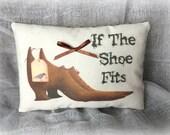 Primitive Witch Shoe mini pillow - If the Shoe Fits