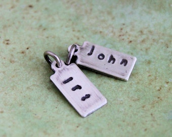 Personalized Custom Tag, Sterling Silver Initial Charm