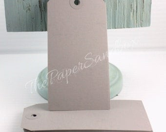"25 Gray Tags, 4 3/4"" x 2 3/8"" Wedding Favor Tags, Gift Wrapping, Party Favors, Party Supplies, Gift Tags, Wish Tree Tags"