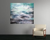 Original Abstract Painting Abstract Painting Landscape Painting Storm Painting Cloud Painting Large Wall Art Decor Textured 30 x 40