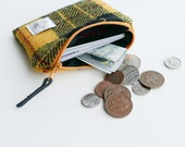 HARRIS TWEED coin or card purse, MacLeod of Harris design, change purse, handmade in Scotland