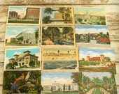 Vintage Postcards, 1950s Souvenir Postcards, Lot of 25 Vintage Postcards, Blank Vintage Post Card, Color Photo Postcards