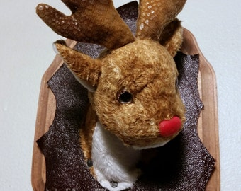 Little Mounted Rudolph Mini Faux Taxidermy
