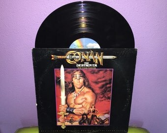 VINYL LOVE SALE Rare Vinyl Record Conan The Destroyer Original Soundtrack Lp 1984 Arnold Schwarzenegger Classic