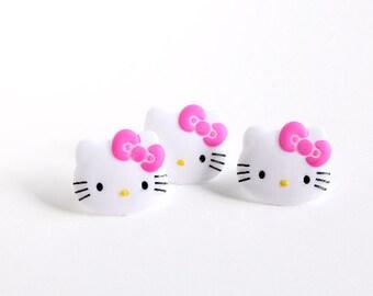 Hello Kitty Cupcake Rings, Hello Kitty Cupcake Toppers, Hello Kitty Birthday Party (12)