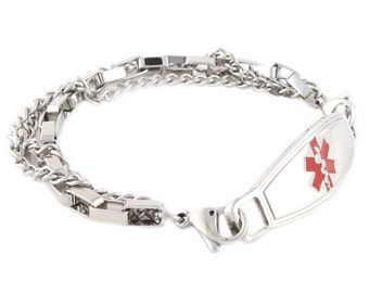 Medical ID Bracelets Trip Stainless Steel