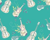 Guitar Fabric Let it Be in Breeze from Art Gallery