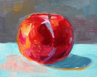 plum painting 6x6