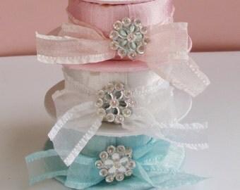 Ladies Hat Favor Box, set of 10