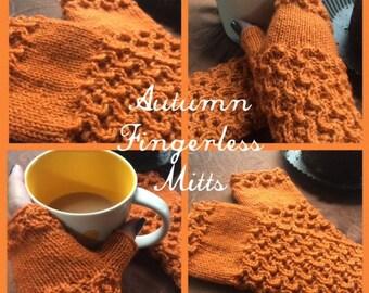 Fingerless Gloves Knitting Pattern, Knitted Fingerless Mitts, Fingerless Mitts Knitting Pattern, Wrist Warmers, Autumn Fingerless Mitts