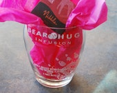 One Upcycled Bear Hug Vodka Vase With Organic Chocolate - Valentines Special