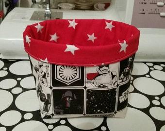 STAR WARS/Red Star darth vader stormtrooper  bits & bobs Storage basket/box/tub