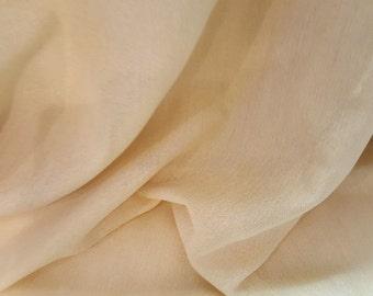 OUTDOOR GOLD SHEER Sunbrella Drapery Fabric,  36-43-08-119