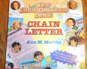 Baby-Sitter's Club Chain Letter by Ann M Martin  VINTAGE HARDBACK