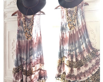 Coachella tunic dress, Bohemian hippie chic dresses for music festivals, Electric Daisy, Bonnaroo, spring dress, Trends True rebel clothing